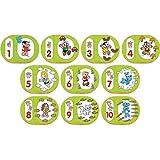 Brinquedo Pedagogico Madeira Turma Da Monica Numeros 1 Ao 10 Brincadeira De Criança Multicor