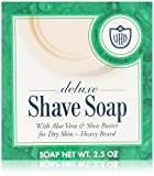 Van Der Hagen Deluxe Shave Soap, 2.5-Ounce Boxes (Pack of 12)