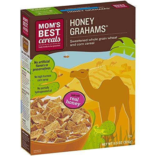 Mom's Best Naturals Honey Grahams Breakfast Cereal,11.5 Ounce Box