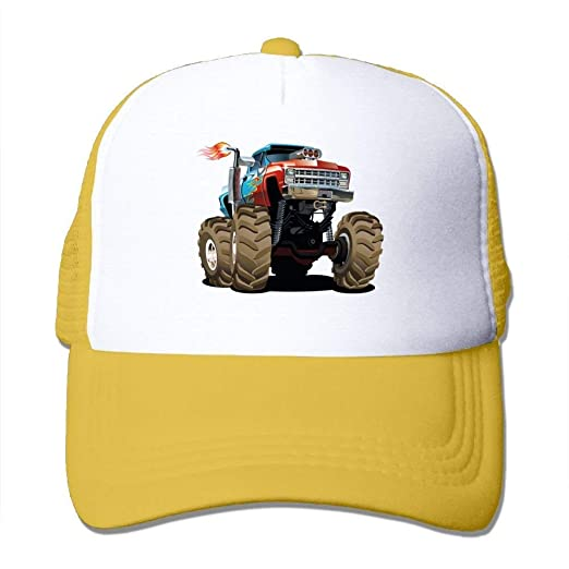 73dbdb04a91 Monster Truck Fired Unisex Adjustable Mesh Baseball Caps Dad Trucker ...