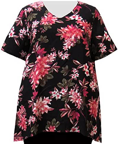 A Personal Touch Pink Botanic Women's Plus Size Top