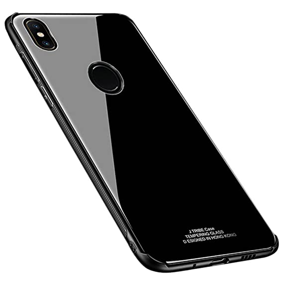 size 40 ffb74 140c2 Kepuch Quartz Xiaomi Mix 2S Case - TPU + Tempered Glass Back Cover for  Xiaomi Mix 2S - Black