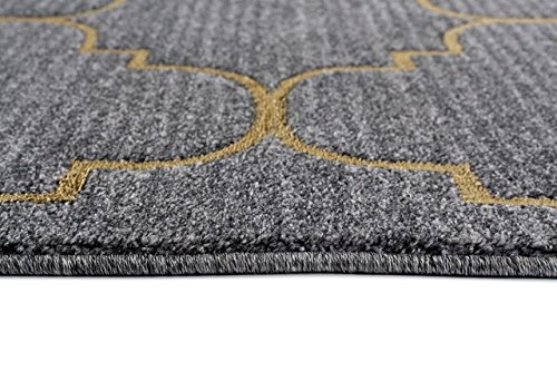 4518 Gold Moroccan Trellis 5'2x7'2 Area Rug Carpet Large New