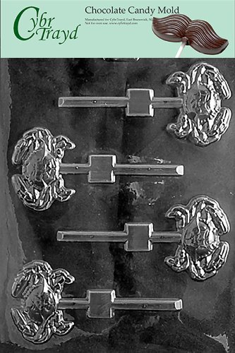 Cybrtrayd N015 Crab Lolly Chocolate Candy Mold with Exclusive Cybrtrayd Copyrighted Chocolate Molding Instructions