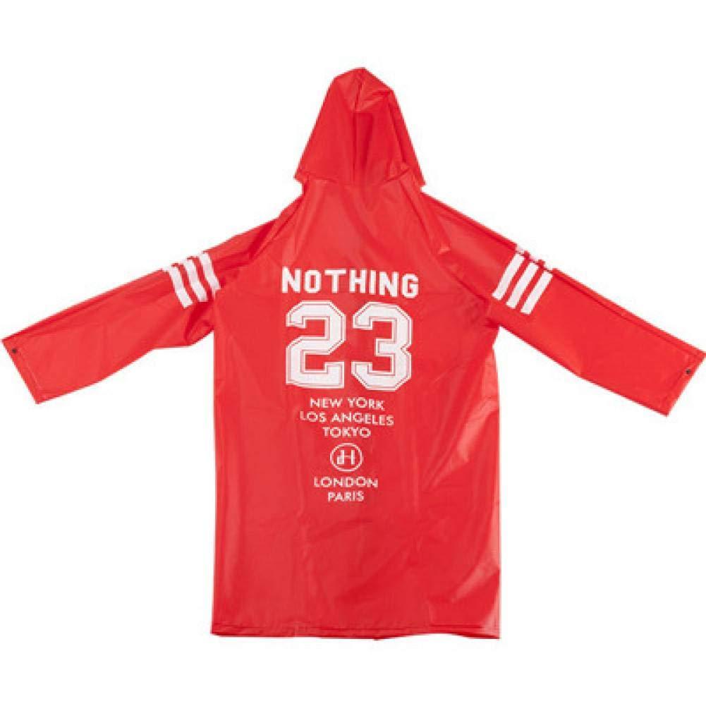 rouge 23 XL NHDYZ Imperméable Imperméable Mode Femme Manteau Version Coupe-Vent Adulte Randonnée Poncho pour Hommes