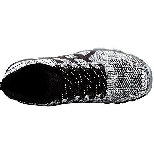 Steel Industrial Men Work Sneakers Safety Athletic Toe for Shoes Footwear Grey rOZrq