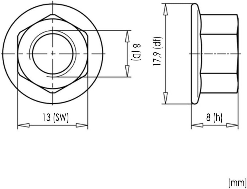 Sperrzahnmuttern M10x30 Edelstahl A2 Festigkeitsklasse 70 200x Sechskantschrauben