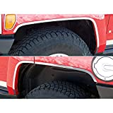 Upgrade Your Auto 6pc. Luxury FX Chrome Fender Trim (SS) w/Adhesve for 2006-2009 Hummer H3