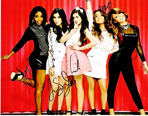 Fifth Harmony - Camila Cabello, Ally Brooke, Normani Kordei, Dinah Jane, and Lauren Jauregui Signed - Autographed 5th Harmony 11x14 inch Photo - RARE Complete Group