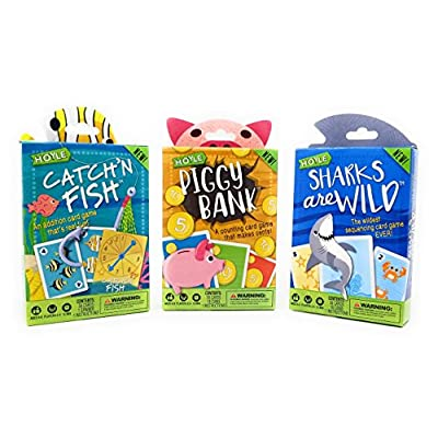 Hoyle Kids Card Games, Catch'n Fish, Piggy Bank, Sharks are Wild, 3 Games Bundle!: Toys & Games