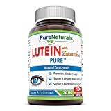 Pure Naturals Lutein 20 Mg with Zeaxanthin 1 Mg Quick Release Softgels, 180 Count For Sale