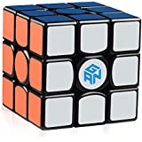 D-FantiX Gans 356 Air Master 3x3 Speed Cube, Gan 356 Air 3x3x3 Speed Cube Magic Cube Puzzles Black with New Blue Cores