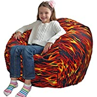Ahh! Products Hot Rod Anti-Pill Fleece Washable Large Bean Bag Chair