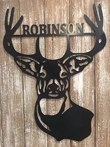 Metal Deer Last Name Door Hanger - 24