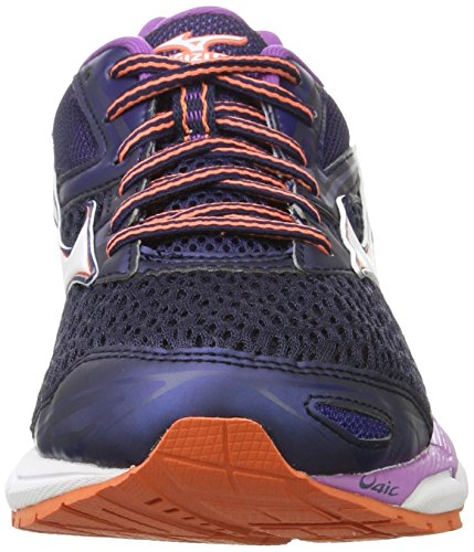 W White Peacoat Running Inspire Wave Camellia Women's Mizuno Shoes Multicolor 8tw47Aqx