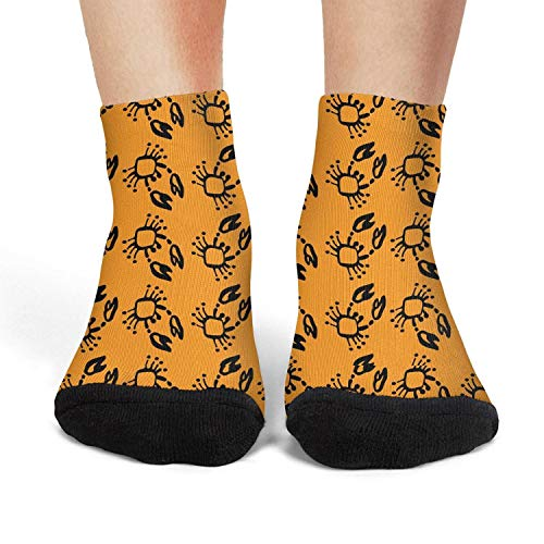 Crab Simple Sketch Short Socks Crew Lightweight Running Cool Women - Meat Crab Imported