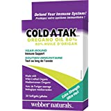 Webber Naturals Cold-Atak Oregano Oil, Extra Strength, 80-Percent Carvacrol, 30-Count