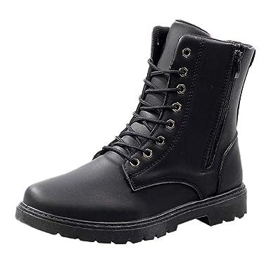e90215e5284 Amazon.com | REYO Men Shoes Casual Non-Slip Wear-Resistant Leather ...