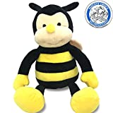 Plush NaNa The Bee With Smile Face And Yellow Wings -Bumblebee Garden Friends Bug Animal Shaped Soft Toy Present For Children 17 inch