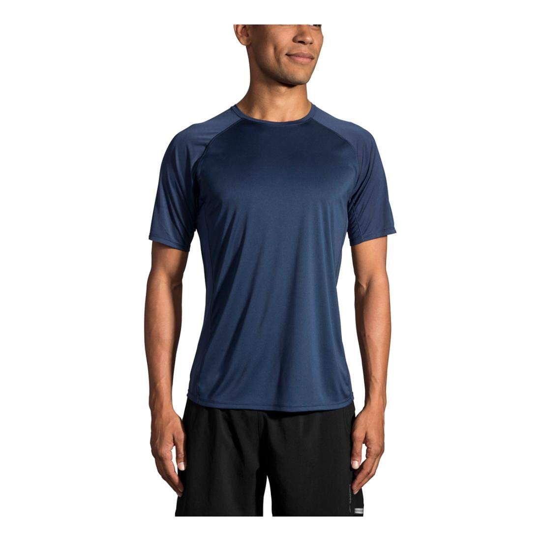 Brooks Men's Stealth Short Sleeve, Indigo, X-Large