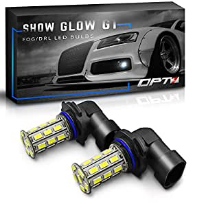 OPT7 Show Glow G1 9005 LED Fog Light Bulbs - 10000K Deep Blue @ 225 Lms per bulb - All Bulb Sizes and Colors - 1 Year Warranty (Pack of 2)