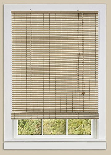 Achim Home Furnishings Ashland Roll Up Shade, 60-Inch by 72-Inch, Desert/Almond - Vinyl Rollup Blinds