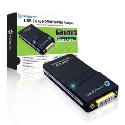 Prudent Way PWI-USB-HDV USB2 to DVI-VGA-HDMI Multi Display Adapter
