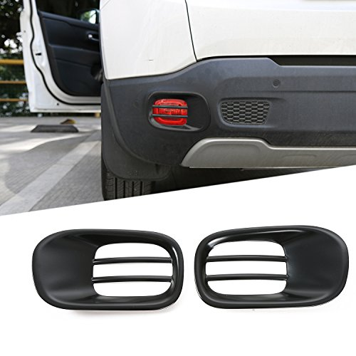 JeCar Rear Tail Fog Light Lamp Frame Trim Cover Jeep Renegade 2015 2016 2017 2018