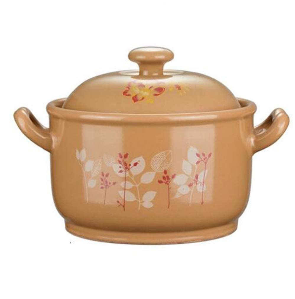 家庭用キャセロールキャセロール米餃子小さなキャセロール高温セラミックキャセロールふたとハンドル (サイズ さいず : 4.2 L) 4.2 L  B07S2HKDHY