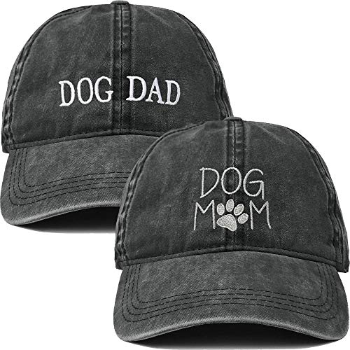 H-214-2-DMD06-W Dog Mom and Dog Dad Hat Bundle - Washed -