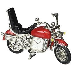 StealStreet SS-KD-3531-RED, 5 Inch Die Cast Metal Hog Motorcycle Analog Quartz Clock, Red 5,