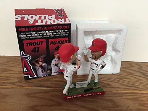 (Mike Trout and Albert Pujols ANAHEIM ANGELS DOUBLE Bobblehead STADIUM PROMO SGA)