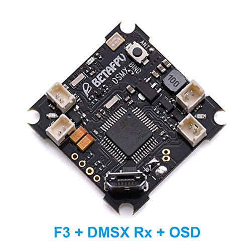 BETAFPV F3 Brushed Flight Controller DSMX Receiver Integrated with OSD (Programmable Flight Controller)