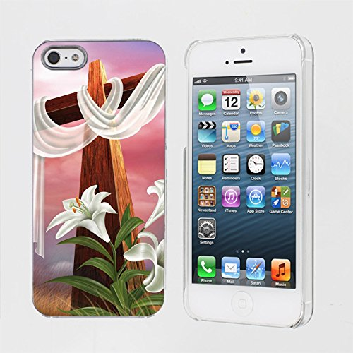 Mobiflare, Slim Clip-on Phone Case, for [iPhone 5/5S] - Easter Cross (Coors Case Light)