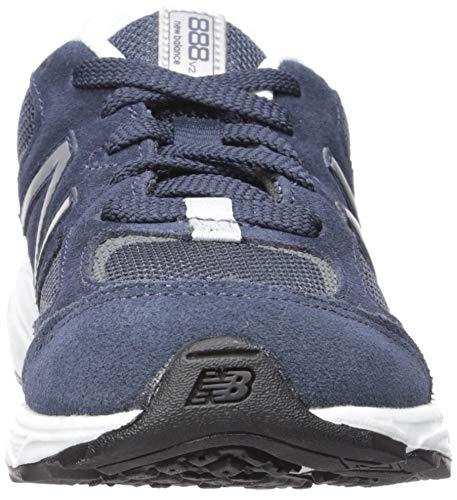 New Balance Boys' 888v2 Running Shoe, Navy/Grey, 2.5 M US Little Kid by New Balance (Image #4)