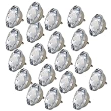 Sofa Headboard Upholstery 20mm Diameter Crystal Buttons Pack of 20