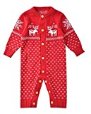 Product review for Aokaixin Unisex Newborn Long Sleeve Christmas Sweaters Romper for Baby Boys and Girls