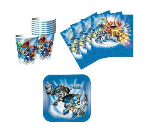 Skylanders Birthday Party Supplies Set Plates Napkins Cups Kit for 8