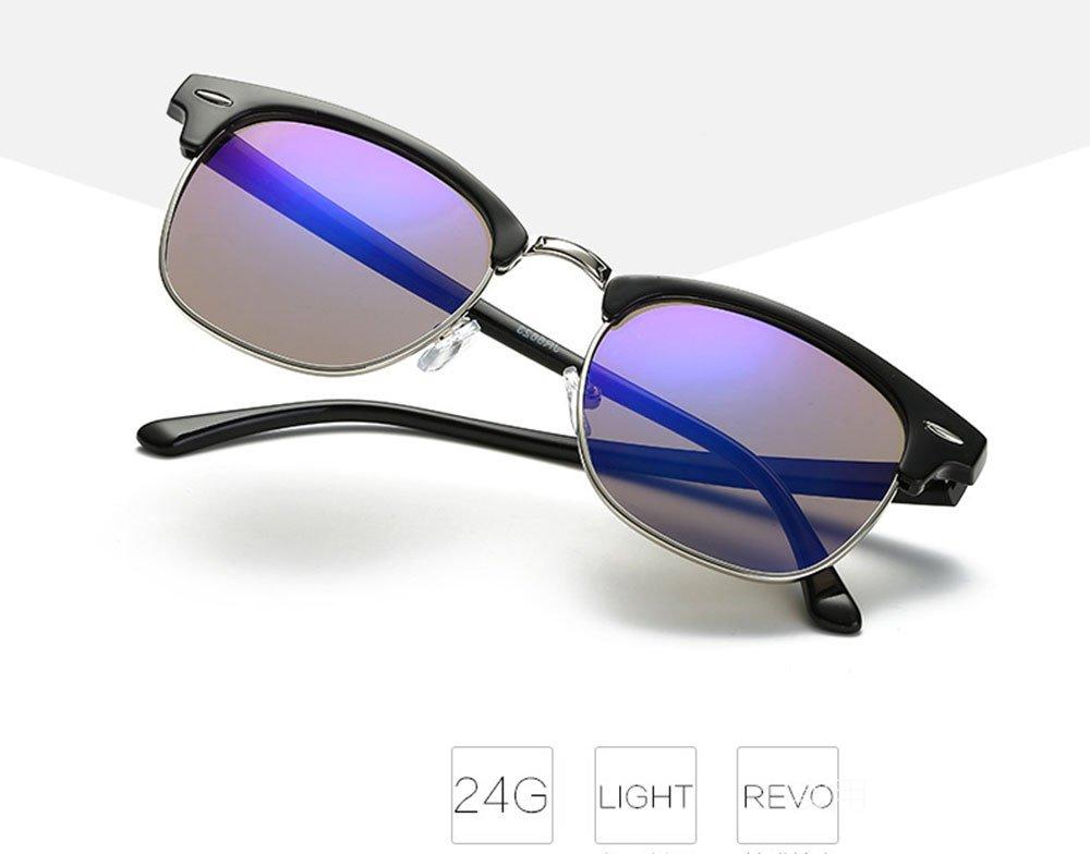 Btruely Herren_Gafas de Sol Polarizadas Hombre Mujer Cuadrados Vintage Espejo Deportivas - Gafas Deportes al Aire Libre Glasse Funda y Toallita Limpiadora ...
