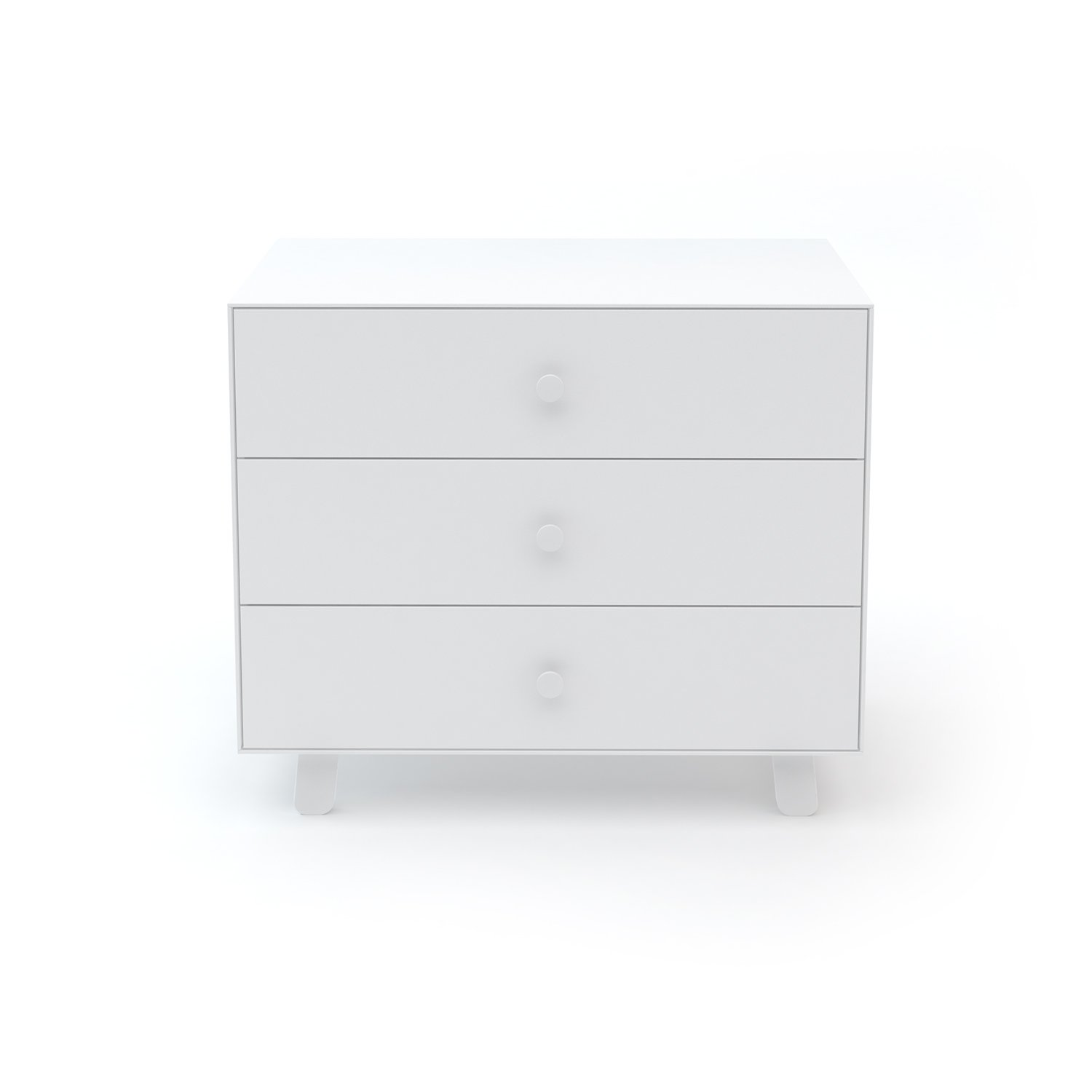 Oeuf Merlin 3 Dresser with Sparrow Base in White