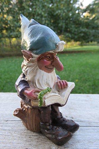 Woodland Garden Gnome - Garden Gnome Reading a Book Yard Ornament Statue Figurine Nome New 4