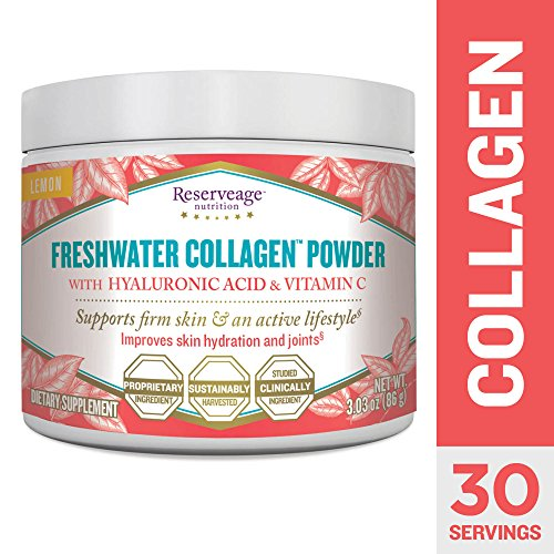 - Reserveage - Freshwater Collagen Powder with Hyaluronic Acid and Vitamin C