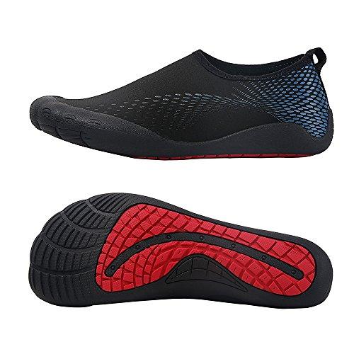 Wasserschuhe Mens Womens Beach Swim Schuhe Quick-Dry Aqua Socken Pool Schuhe für Surf Yoga Wassergymnastik Fivefingers-blaue Punkte