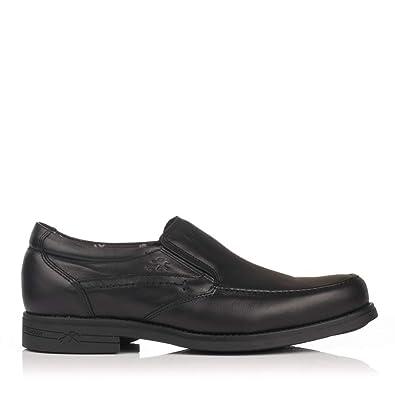 FLUCHOS 9301 Mocasin Piel Tacon Hombre: Amazon.es: Zapatos y complementos