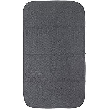 """Premium All-Clad Dual Surface, Reversible Dish Drying Mat for the Kitchen Counter, #1 Absorbent Drying Pad, 16"""" x 28"""", Pewter"""