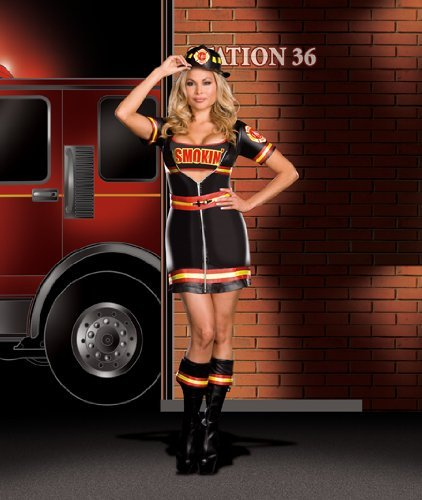 Smokin' Firefighter Adult Costume - Plus Size 1X/2X ()
