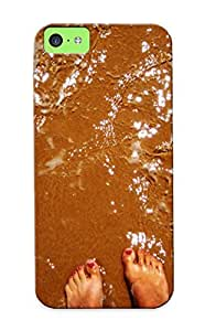 Case For Iphone 5c Tpu Phone Case Cover(girl Feet In The Sea ) For Thanksgiving Day's Gift by mcsharks