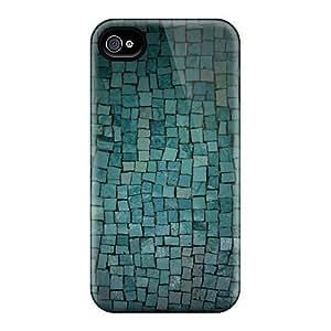 High-quality Durability Case For Iphone 4/4s(aqua Tiles)