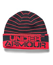 Under Armour Boys' Cuff Stripe Beanie, Pacific (478), One Size