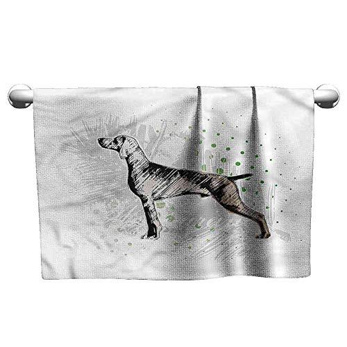 (SCOCICI1588 Towel Hunting,Dog Sketch Art Ultra Soft, Size:W27.5 xL12)